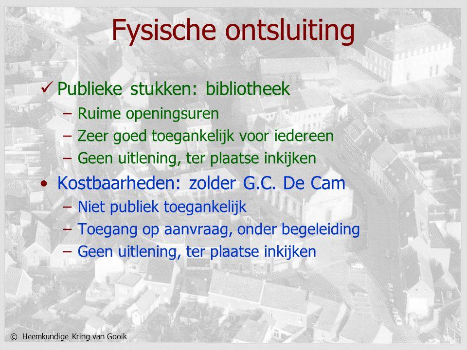 © Heemkundige Kring van Gooik Digitaal archiveringswerk Computer: portable of desktop.