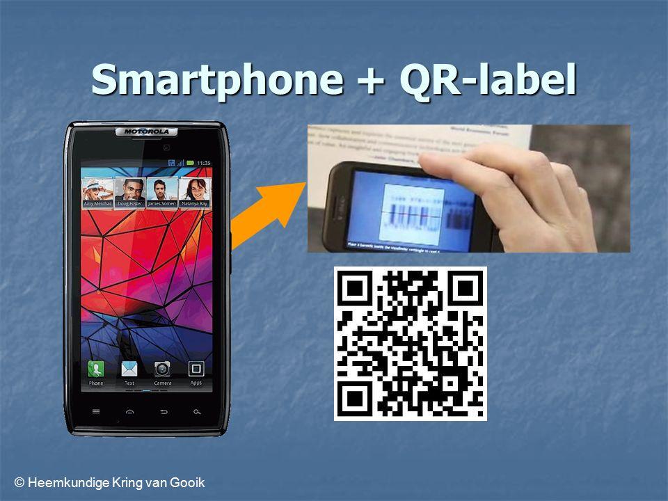 © Heemkundige Kring van Gooik Smartphone + QR-label