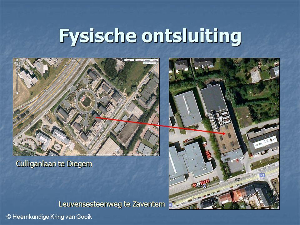 © Heemkundige Kring van Gooik Fysische ontsluiting Culliganlaan te Diegem Leuvensesteenweg te Zaventem