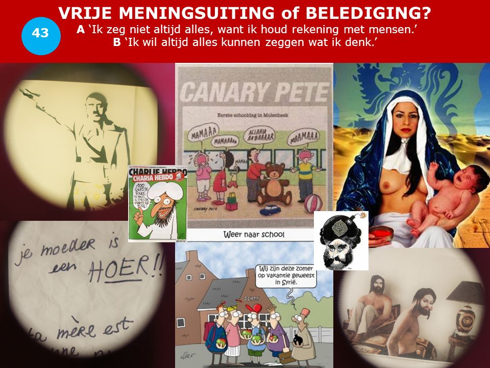 VRIJE MENINGSUITING of BELEDIGING.