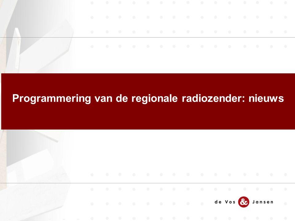 Programmering van de regionale radiozender: nieuws