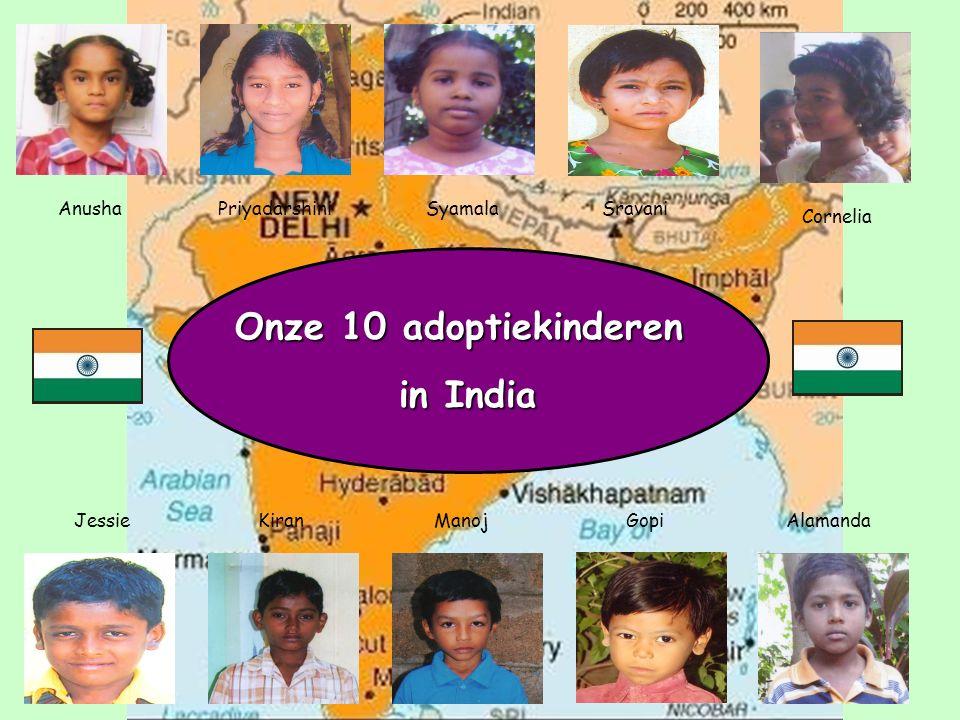 Onze 10 adoptiekinderen in India CorneliaAnushaPriyadarshiniSyamala JessieKiranManojGopiAlamanda Sravani