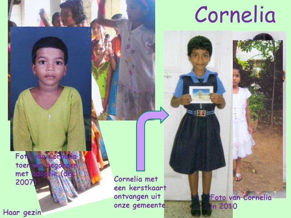 Foto van Cornelia toen we begonnen met adoptie (dec.