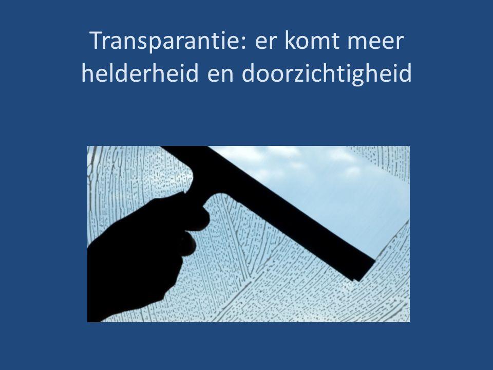 Transparantie: er komt meer helderheid en doorzichtigheid