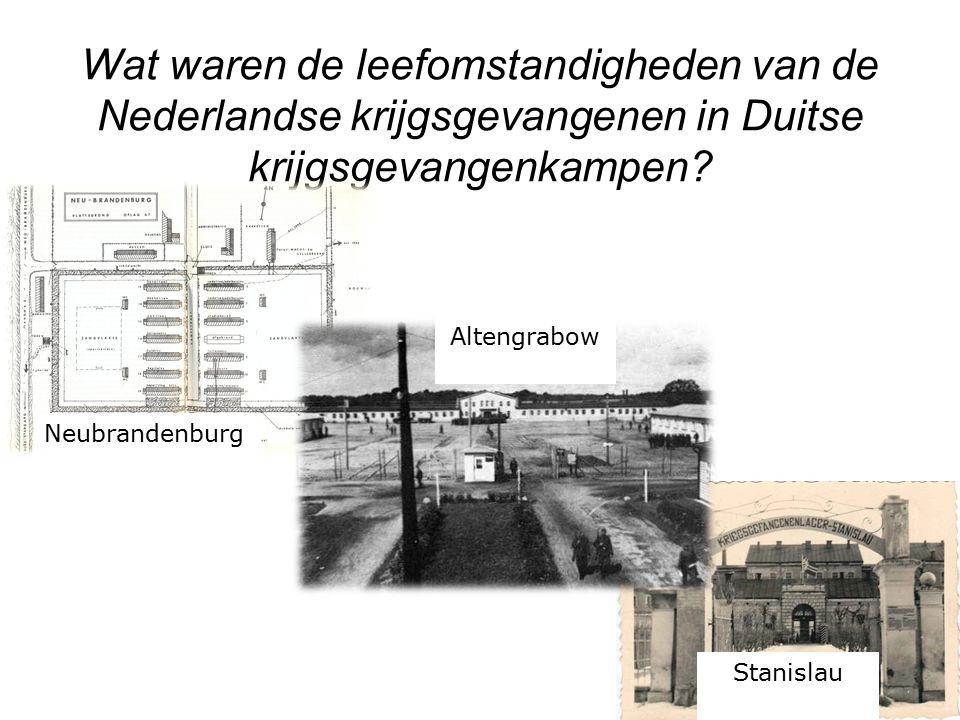 Wat waren de leefomstandigheden van de Nederlandse krijgsgevangenen in Duitse krijgsgevangenkampen.