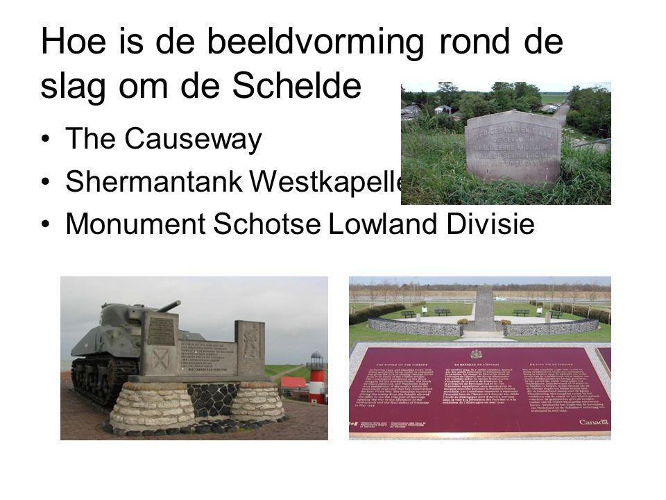 Hoe is de beeldvorming rond de slag om de Schelde The Causeway Shermantank Westkapelle Monument Schotse Lowland Divisie