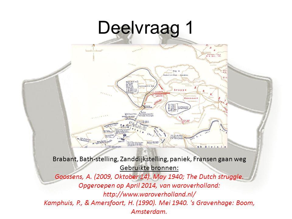 Deelvraag 2 -Donatien Hamon -Postbrug -Doorbraak -Fransen trekken terug Gebruikte bronnen Brugghe, L.