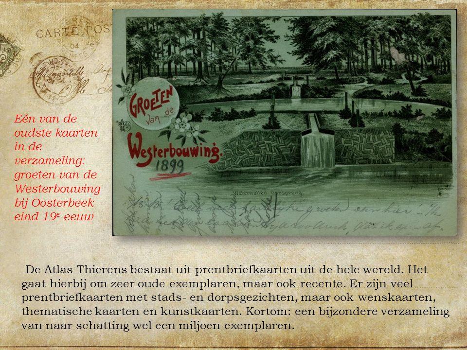 De Atlas Thierens bestaat uit prentbriefkaarten uit de hele wereld.