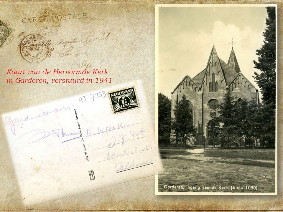Kaart van de Hervormde Kerk in Garderen, verstuurd in 1941