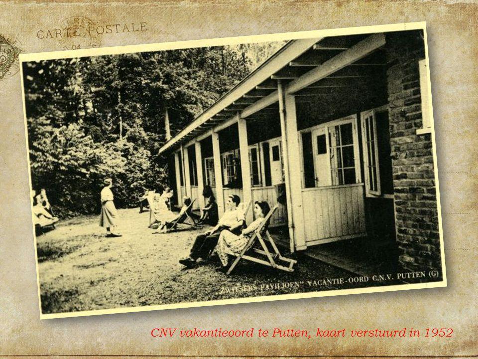 CNV vakantieoord te Putten, kaart verstuurd in 1952