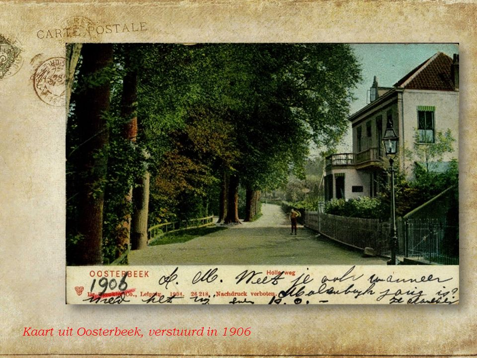 Kaart uit Oosterbeek, verstuurd in 1906