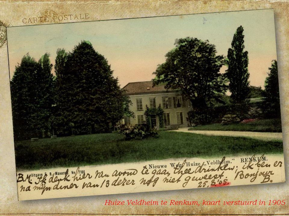 Huize Veldheim te Renkum, kaart verstuurd in 1905