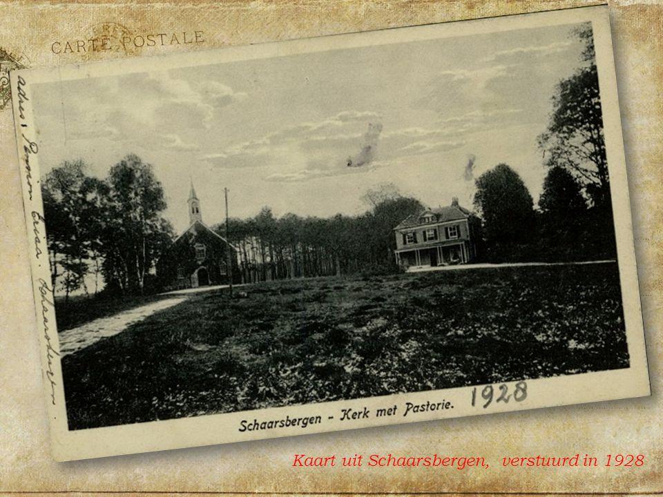 Kaart uit Schaarsbergen, verstuurd in 1928