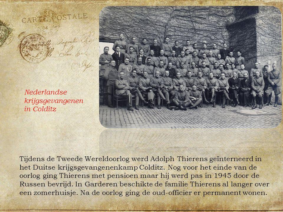 Tijdens de Tweede Wereldoorlog werd Adolph Thierens geïnterneerd in het Duitse krijgsgevangenenkamp Colditz.