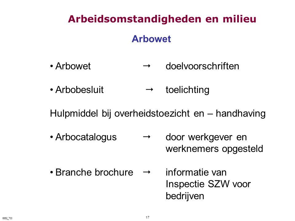 Arbowet Arbowet  doelvoorschriften Arbobesluit  toelichting Hulpmiddel bij overheidstoezicht en – handhaving Arbocatalogus  door werkgever en werkn