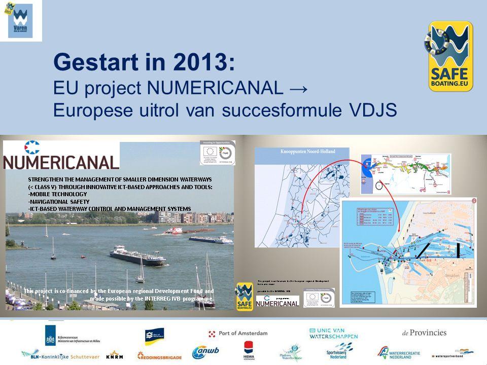 Gestart in 2013: EU project NUMERICANAL → Europese uitrol van succesformule VDJS