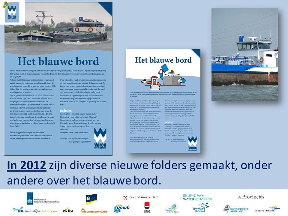 In 2012 zijn diverse nieuwe folders gemaakt, onder andere over het blauwe bord.