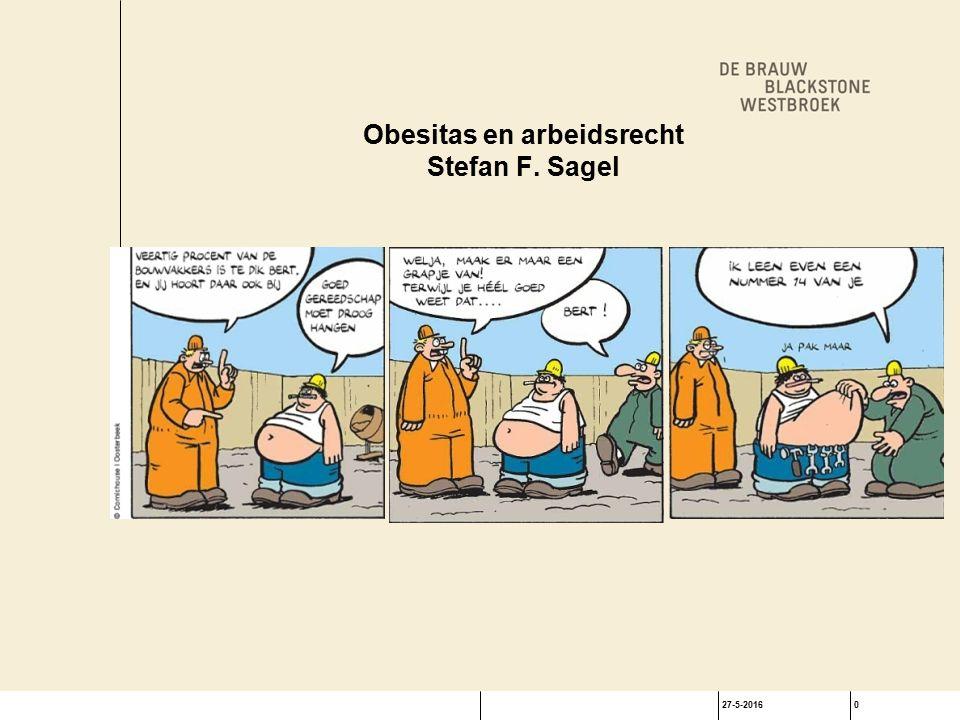 27-5-20160 Obesitas en arbeidsrecht Stefan F. Sagel