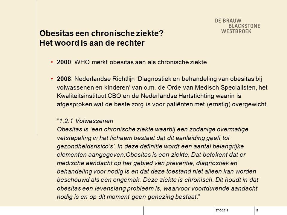 27-5-201612 Obesitas een chronische ziekte.