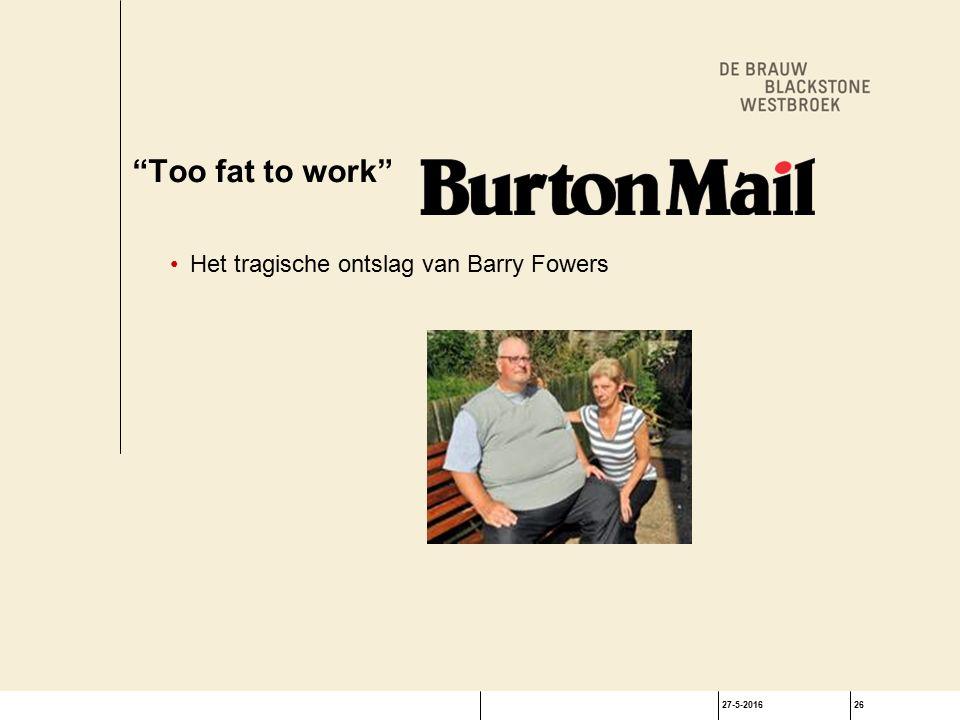 27-5-201626 Too fat to work Het tragische ontslag van Barry Fowers