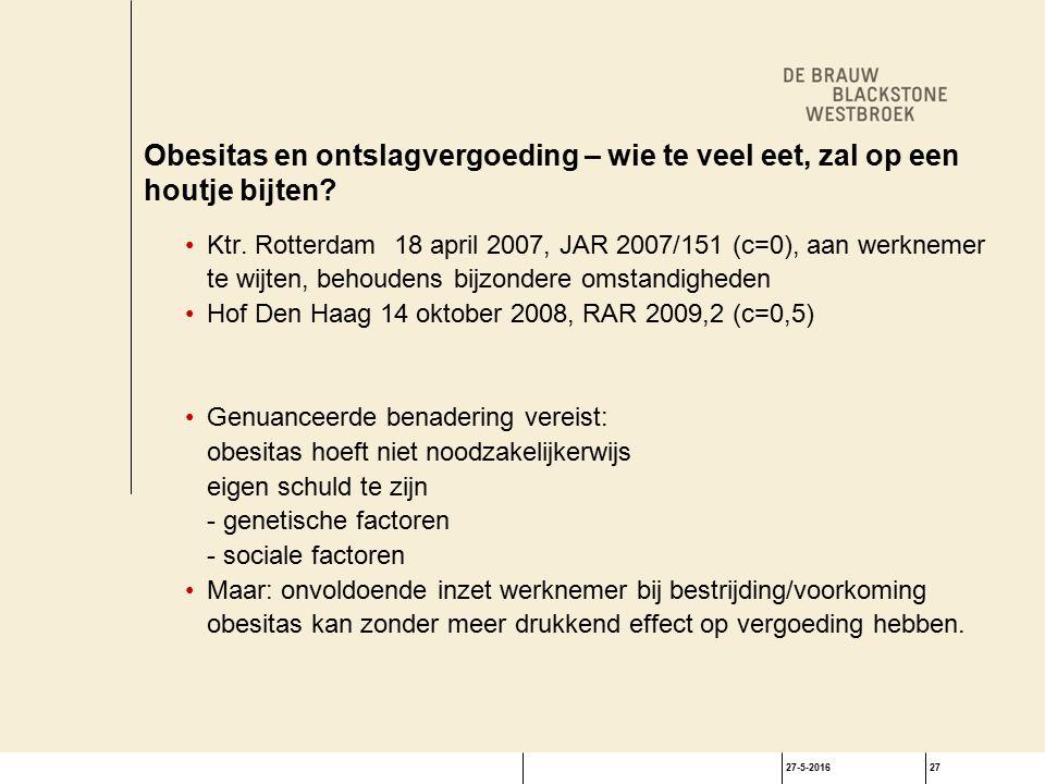 27-5-201627 Obesitas en ontslagvergoeding – wie te veel eet, zal op een houtje bijten.