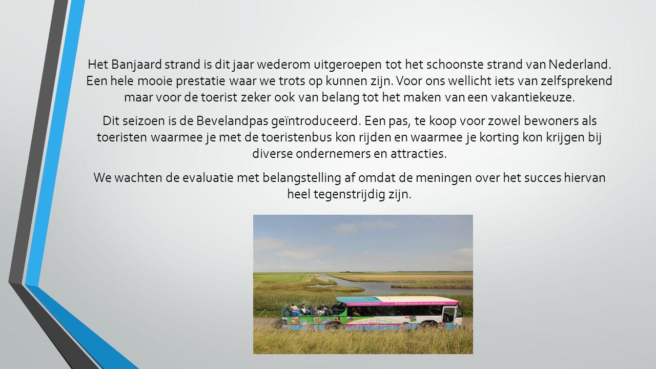 Het Banjaard strand is dit jaar wederom uitgeroepen tot het schoonste strand van Nederland. Een hele mooie prestatie waar we trots op kunnen zijn. Voo