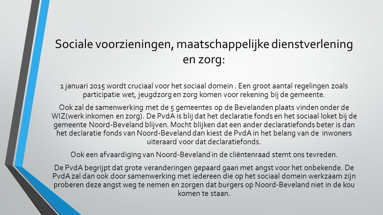 Sociale voorzieningen, maatschappelijke dienstverlening en zorg: 1 januari 2015 wordt cruciaal voor het sociaal domein.