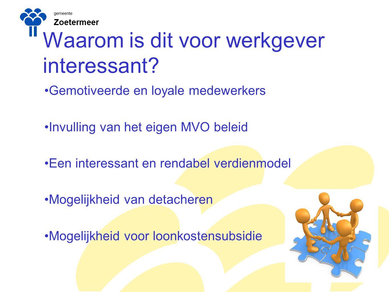 gemeente Zoetermeer Praktijkvoorbeeld in Zoetermeer Schema SROI inzet 1jan------------1 april---------------------1 okt----------31 dec.