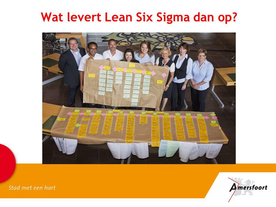 Wat levert Lean Six Sigma dan op?