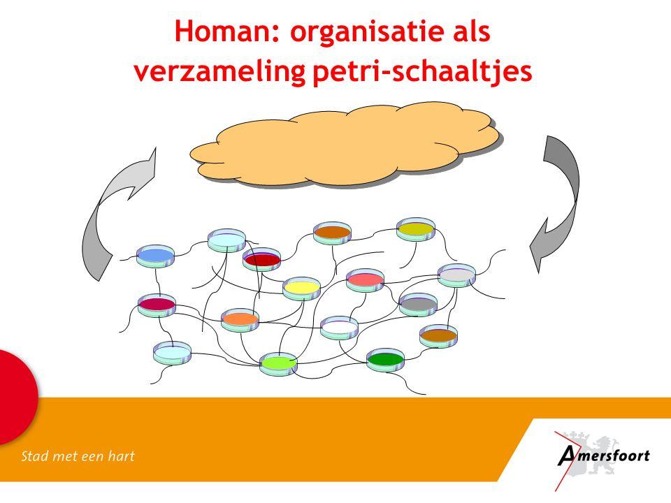 Homan: organisatie als verzameling petri-schaaltjes