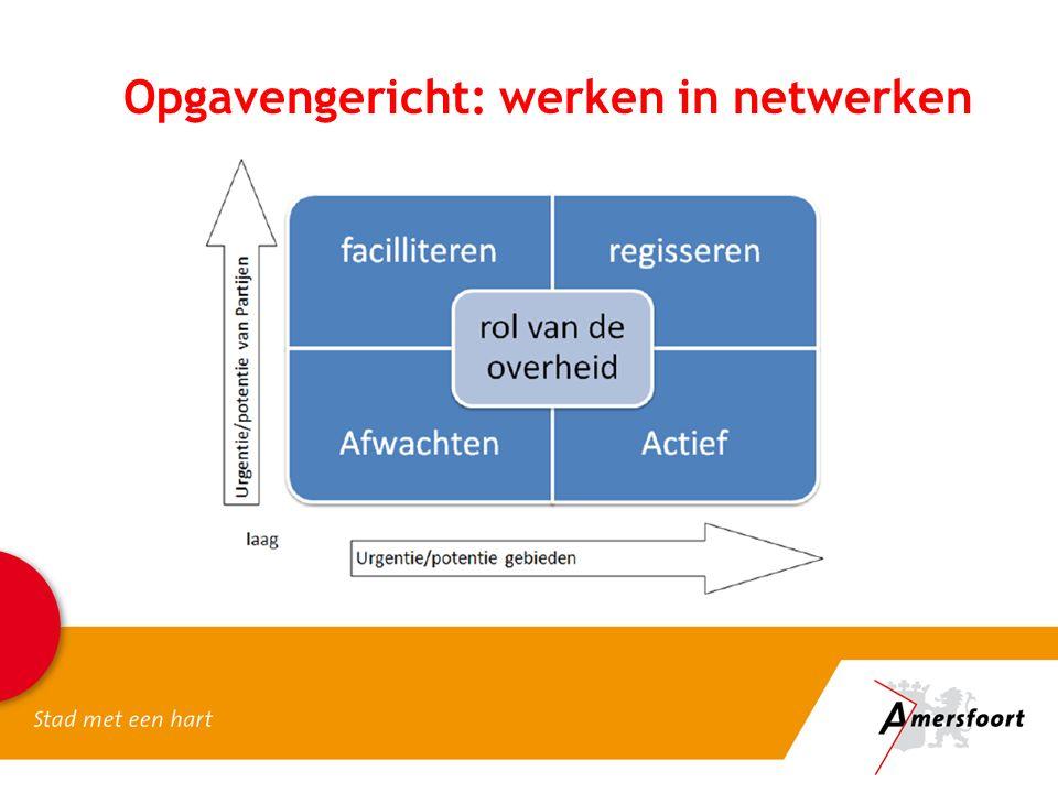 Opgavengericht: werken in netwerken