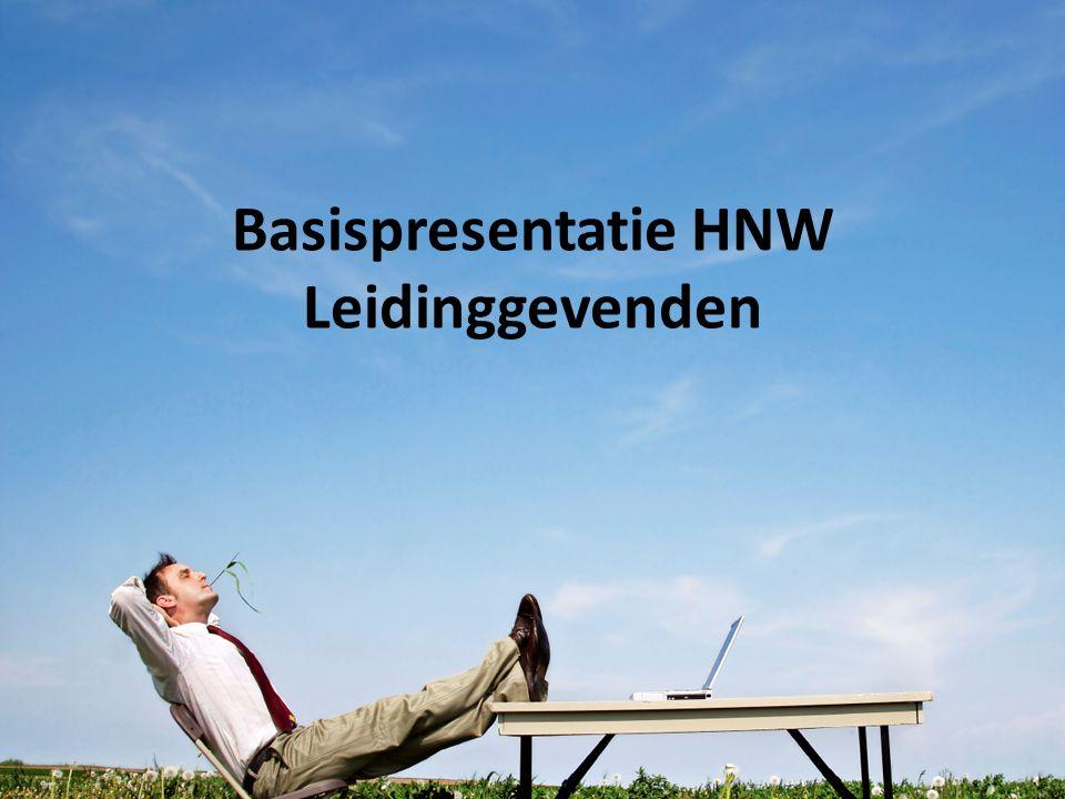 Basispresentatie HNW Leidinggevenden