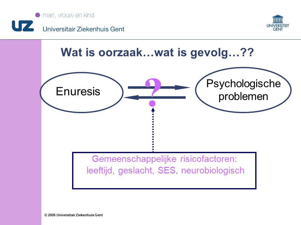 24 © 2008 Universitair Ziekenhuis Gent Wat is oorzaak…wat is gevolg…?.
