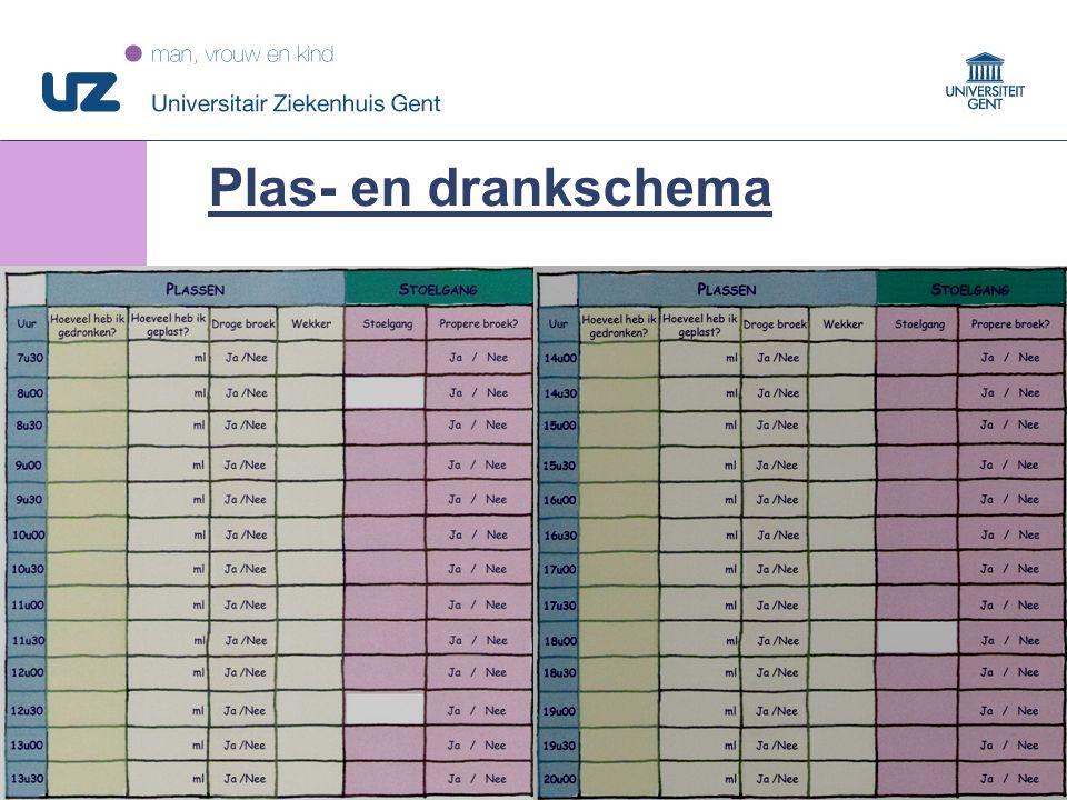 38 © 2008 Universitair Ziekenhuis Gent Plas- en drankschema