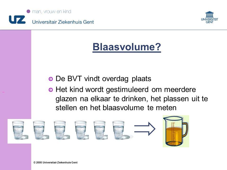 41 © 2008 Universitair Ziekenhuis Gent Blaasvolume.