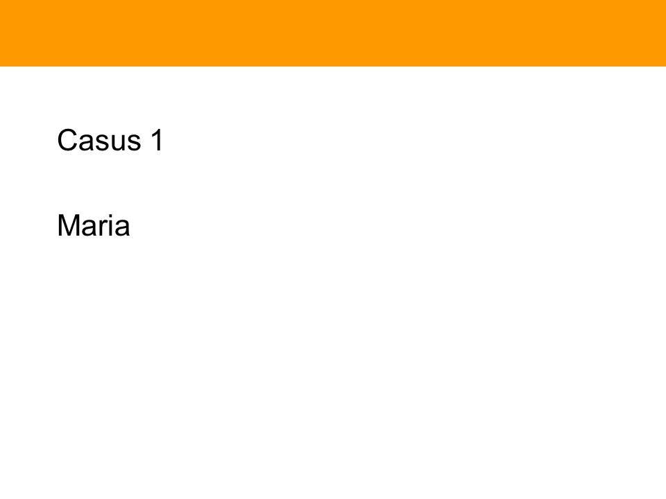 Casus 1 Maria