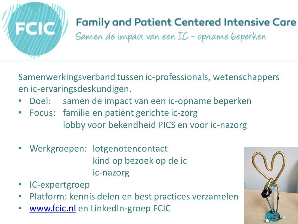 Samenwerkingsverband tussen ic-professionals, wetenschappers en ic-ervaringsdeskundigen.
