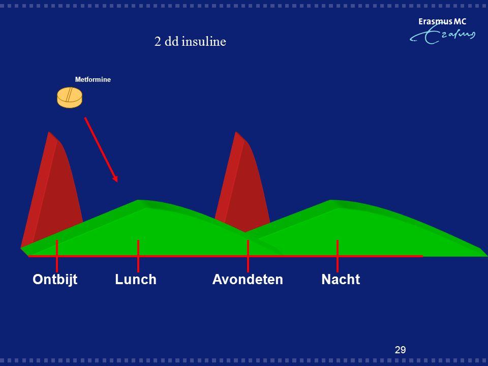 29 2 dd insuline OntbijtLunchAvondeten Nacht Metformine