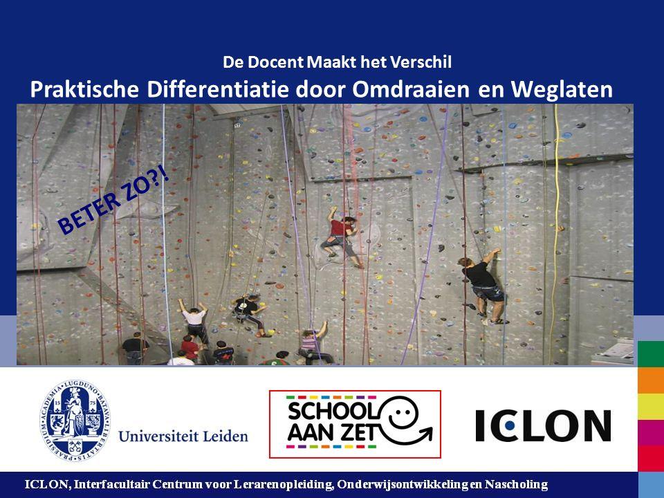 Leiden University. The university to discover. ICLON, Interfacultair Centrum voor Lerarenopleiding, Onderwijsontwikkeling en Nascholing 1 De Docent Ma