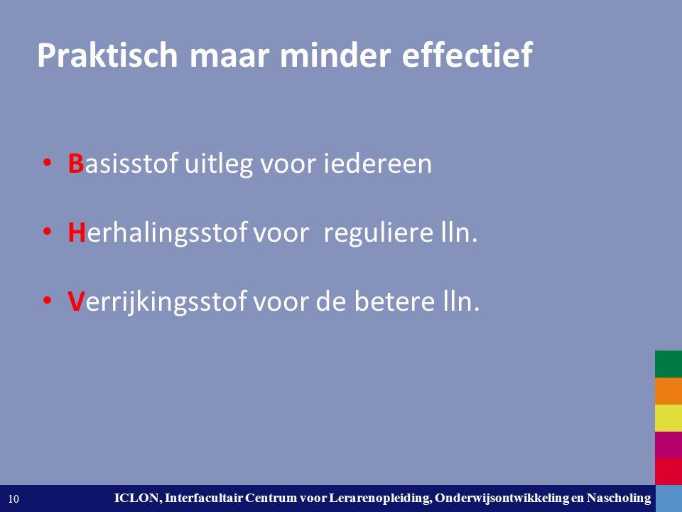 Leiden University. The university to discover. ICLON, Interfacultair Centrum voor Lerarenopleiding, Onderwijsontwikkeling en Nascholing 10 Praktisch m