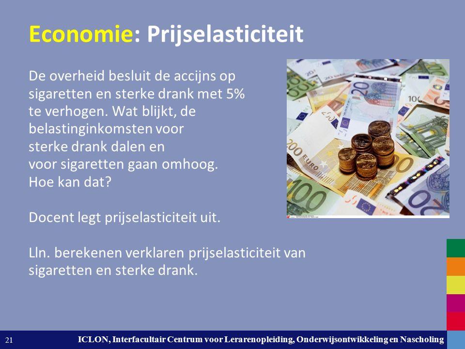 Leiden University. The university to discover. ICLON, Interfacultair Centrum voor Lerarenopleiding, Onderwijsontwikkeling en Nascholing 21 Economie: P
