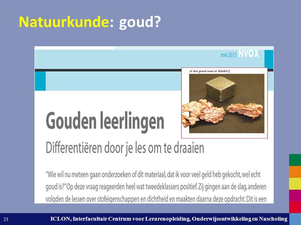 Leiden University. The university to discover. ICLON, Interfacultair Centrum voor Lerarenopleiding, Onderwijsontwikkeling en Nascholing 23 Natuurkunde