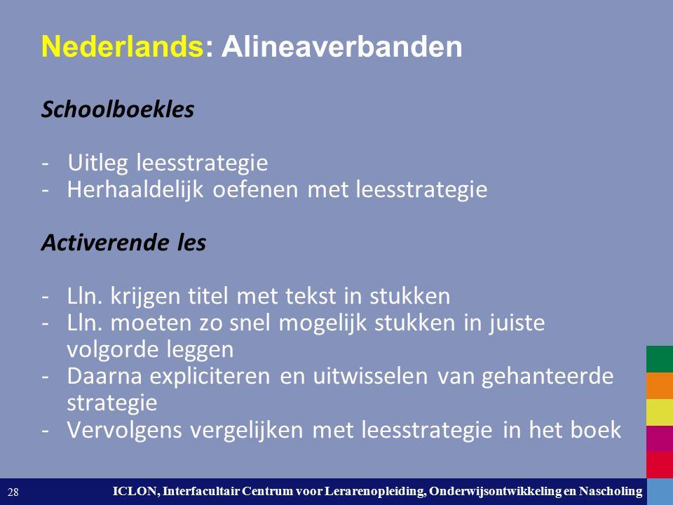 Leiden University. The university to discover. ICLON, Interfacultair Centrum voor Lerarenopleiding, Onderwijsontwikkeling en Nascholing 28 Nederlands: