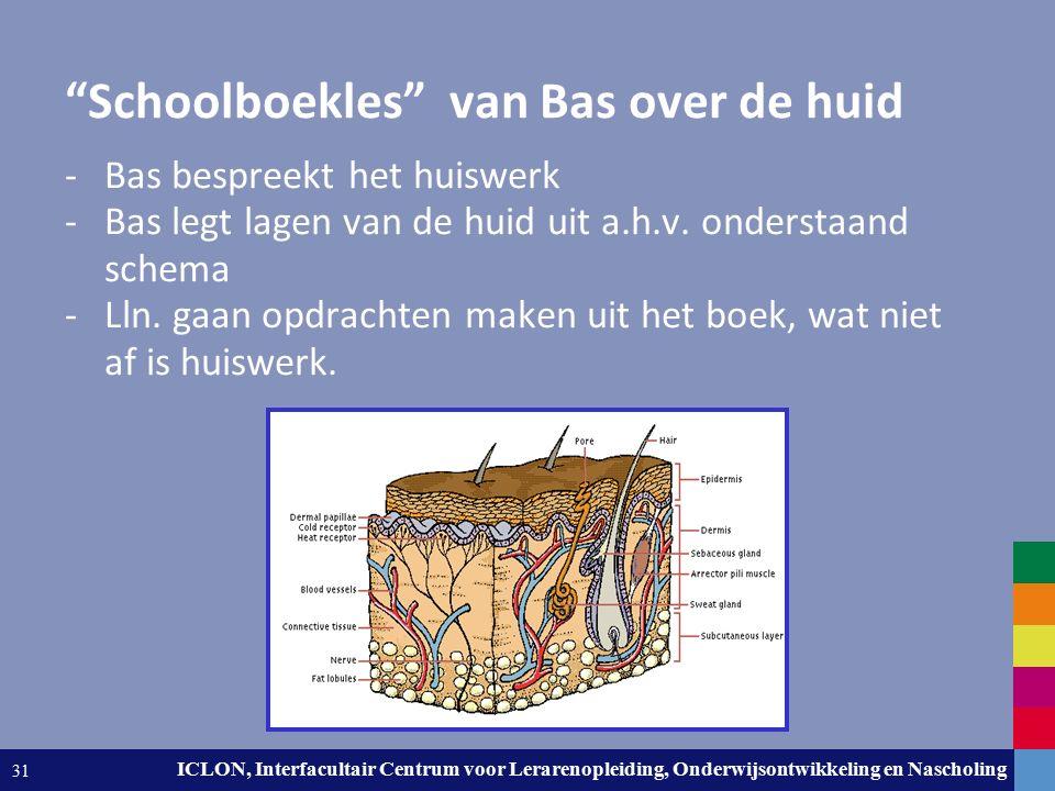 """Leiden University. The university to discover. ICLON, Interfacultair Centrum voor Lerarenopleiding, Onderwijsontwikkeling en Nascholing 31 """"Schoolboek"""