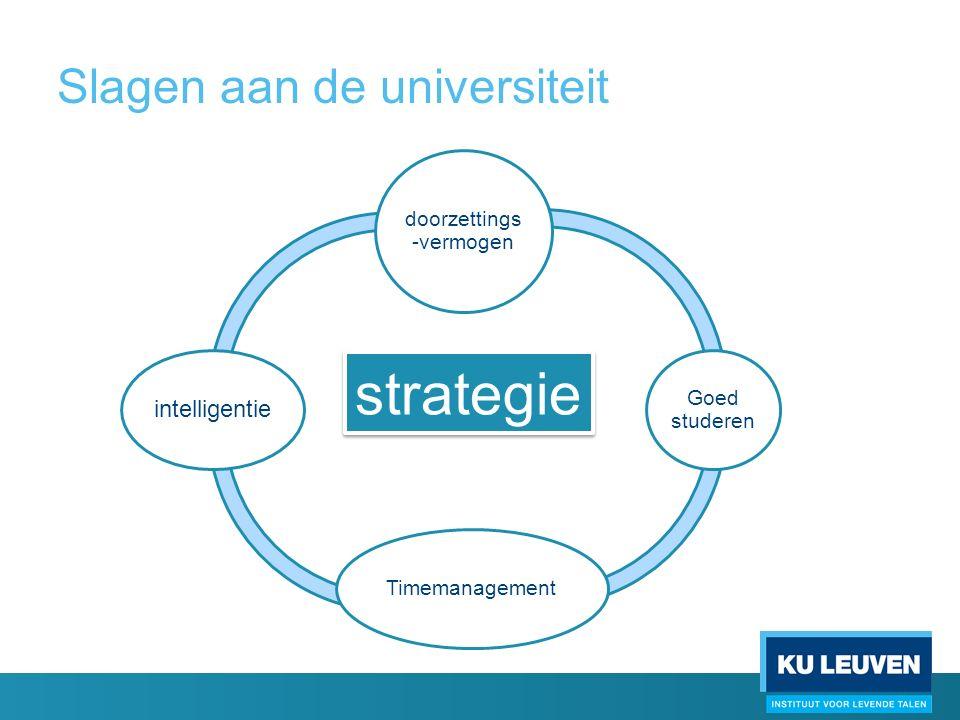 Slagen aan de universiteit StrategieEfficiëntRendement