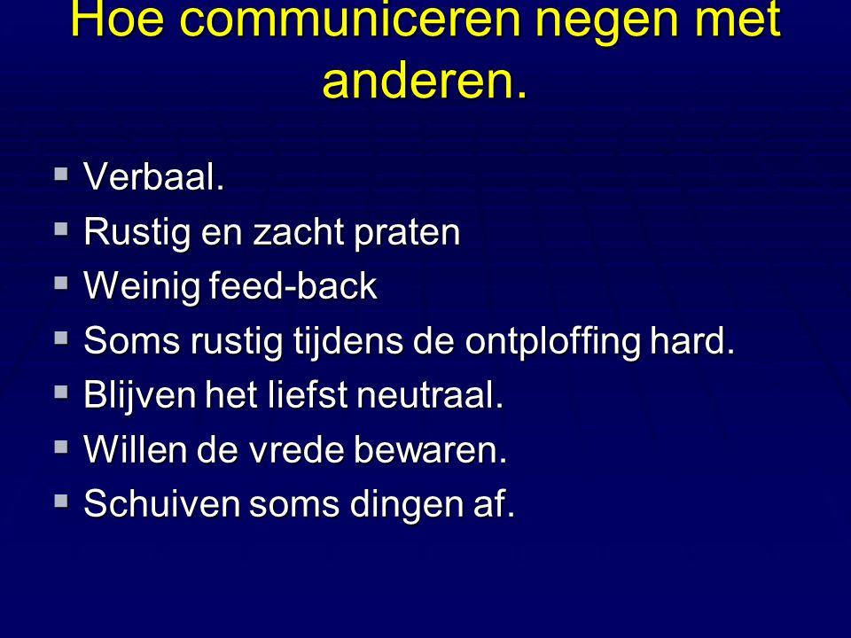 Hoe communiceren negen met anderen.  Non verbaal.