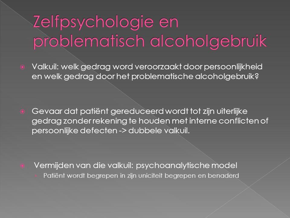  Valkuil: welk gedrag word veroorzaakt door persoonlijkheid en welk gedrag door het problematische alcoholgebruik.