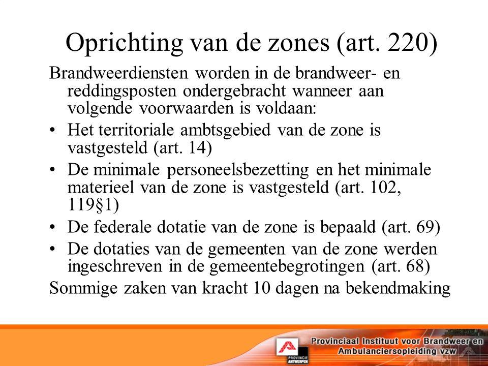 Oprichting van de zones (art.