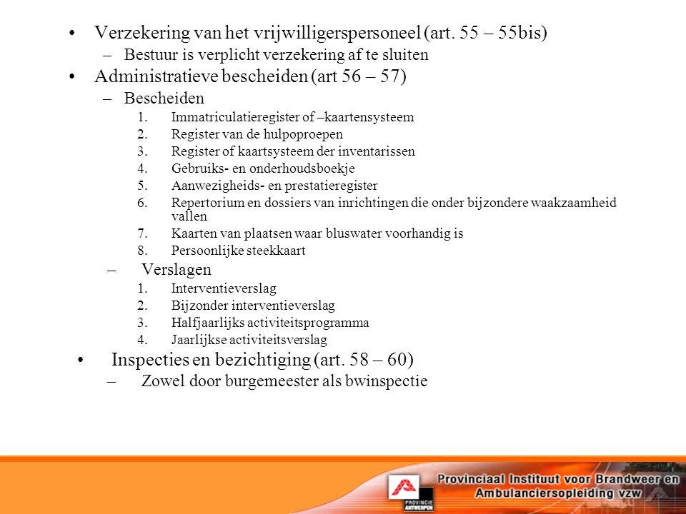 Verzekering van het vrijwilligerspersoneel (art.