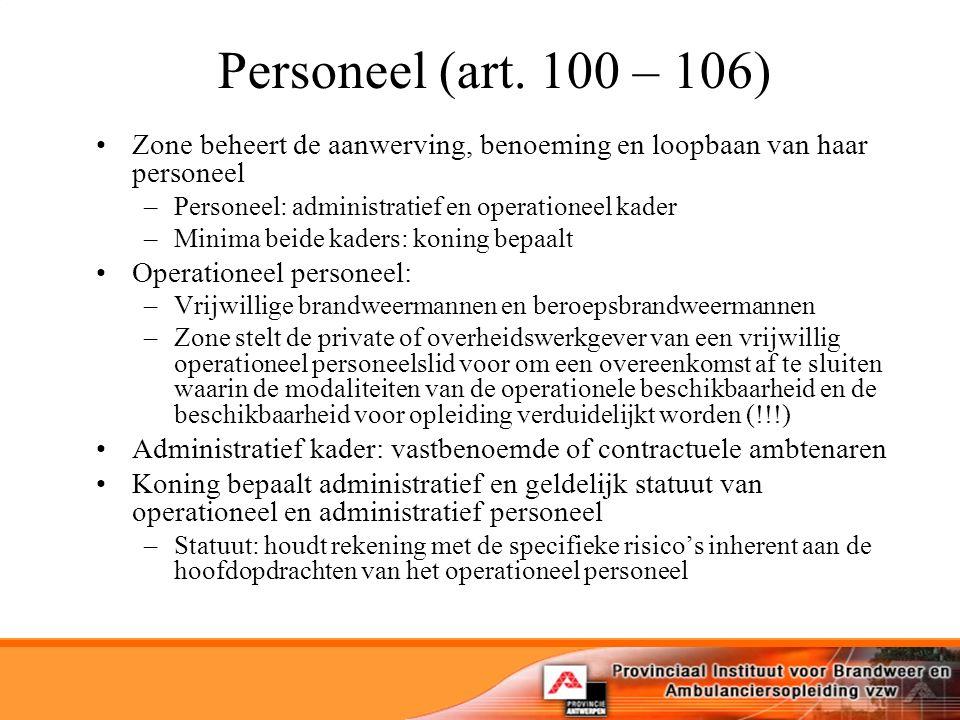 Personeel (art.